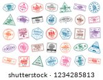 Airport  Vector  Set  Stamp ...
