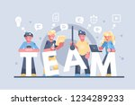 business people working... | Shutterstock .eps vector #1234289233