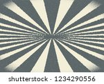 abstract sun rays with dotwork... | Shutterstock .eps vector #1234290556