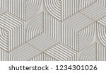 white relief hexagons with... | Shutterstock . vector #1234301026