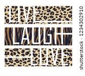 slogan graphic animal skin | Shutterstock .eps vector #1234302910