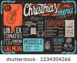 christmas menu template for... | Shutterstock .eps vector #1234304266