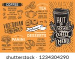 coffee menu template for... | Shutterstock .eps vector #1234304290