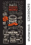 burger restaurant menu on... | Shutterstock .eps vector #1234304293