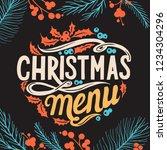 christmas menu template for... | Shutterstock .eps vector #1234304296