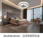 Luxurious Bedroom In Modern...
