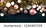 christmas background with balls....   Shutterstock .eps vector #1234307239
