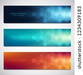 set of vector banners and... | Shutterstock .eps vector #1234309183