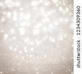 white and silver lights on... | Shutterstock . vector #1234309360