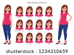 lip sync collection for... | Shutterstock .eps vector #1234310659