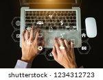 coding software developer work... | Shutterstock . vector #1234312723
