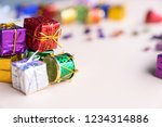 wrapped christmas gift boxes... | Shutterstock . vector #1234314886