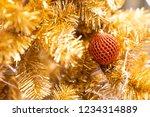 red glitter christmas light... | Shutterstock . vector #1234314889