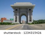 arch of triumph in pyongyang ... | Shutterstock . vector #1234315426