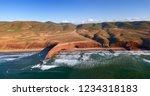aerial view on legzira beach... | Shutterstock . vector #1234318183