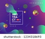 minimal cover banner template.... | Shutterstock .eps vector #1234318693