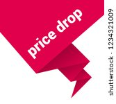 price drop sign label. price... | Shutterstock .eps vector #1234321009
