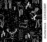 adorable seamless pattern with...   Shutterstock .eps vector #1234323889