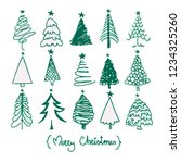 greeting card with hand drawn... | Shutterstock .eps vector #1234325260
