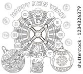 coloring pages. coloring book... | Shutterstock .eps vector #1234326379