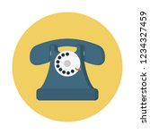 obsolete rotary phone | Shutterstock .eps vector #1234327459