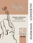 classical music concert poster... | Shutterstock .eps vector #1234328743