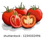 vector illustration sketch of... | Shutterstock .eps vector #1234332496