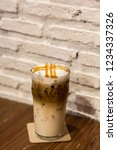 ice caramel macchiato in the... | Shutterstock . vector #1234337326