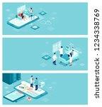 isometric vector healthcare ... | Shutterstock .eps vector #1234338769