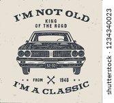 70 birthday anniversary gift... | Shutterstock . vector #1234340023