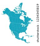 map of north america | Shutterstock .eps vector #1234345819