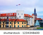 castle and dome cathedral in... | Shutterstock . vector #1234348600