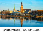 panorama of daugava river and... | Shutterstock . vector #1234348606