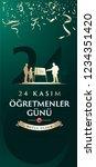 november 24th turkish teachers... | Shutterstock .eps vector #1234351420