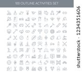 100 activities universal icons... | Shutterstock .eps vector #1234351606