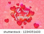 valentine's day background with ... | Shutterstock .eps vector #1234351633