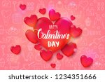 valentine's day background with ... | Shutterstock .eps vector #1234351666