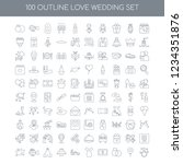 100 love wedding universal... | Shutterstock .eps vector #1234351876