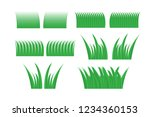 green grass set for design.... | Shutterstock .eps vector #1234360153