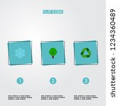 set of environment icons flat... | Shutterstock .eps vector #1234360489
