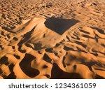 aerial view on big sand dunes... | Shutterstock . vector #1234361059