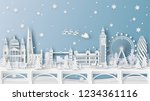 winter landscape and christmas... | Shutterstock .eps vector #1234361116