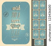 vintage style anniversary... | Shutterstock .eps vector #123436600