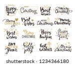 merry christmas  happy new year ... | Shutterstock .eps vector #1234366180