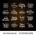 christmas   new year vector... | Shutterstock .eps vector #1234366186