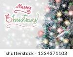 merry christmas concept ...   Shutterstock . vector #1234371103
