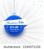 beautiful merry christmas ball... | Shutterstock .eps vector #1234371133
