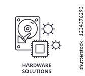 hardware solutions line icon... | Shutterstock .eps vector #1234376293
