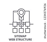 sitemap web structure line icon ...