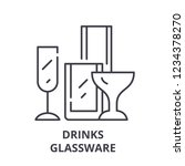 drinks glassware line icon... | Shutterstock .eps vector #1234378270